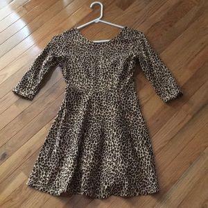 Cute girls leopard print dress